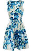 Karen Millen All Over Iris Print Dress - Lyst