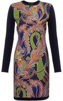 Ralph Lauren Black Label Paisley Silk and Cashmere Dress - Lyst