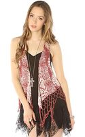RVCA The Sacred Spirit Open Fringe Vest - Lyst