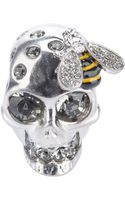 Alexander McQueen Skull and Bee Ring - Lyst