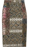 Preen By Thorton Bregazzi Sahara Pythonprint Pencil Skirt - Lyst