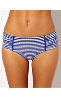 Seafolly Lucia Ruched Side Retro Bikini Pant - Lyst