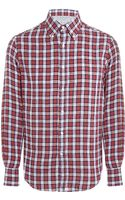 Brunello Cucinelli Slim Fit Checked Shirt - Lyst