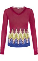 Carven Jacquard Sweater - Lyst