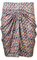 Saloni Twist Skirt - Lyst