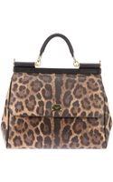 Dolce & Gabbana Miss Sicily Leopard Print Tote - Lyst