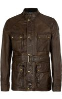 Belstaff Richmond Leather Field Jacket - Lyst