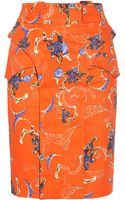 Altuzarra Pali Printed Stretch Cotton Canvas Skirt - Lyst
