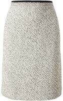 Carven Virgin Wool Tweed Miniskirt - Lyst
