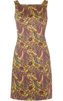 Lauren by Ralph Lauren Sleeveless Square Neck Paisley Shift Dress - Lyst