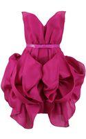 Marchesa Strapless Floral Skirt Dress - Lyst