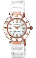 Anne Klein Womens White Ceramic Watch - Lyst