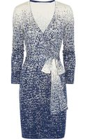 Diane Von Furstenberg Linda Knitted Silk Blend Wrap Dress - Lyst