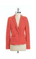 Michael by Michael Kors Striped Ponte Blazer - Lyst