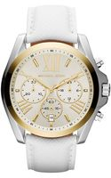 Michael Kors Ladies Goldtone White Leather Quartz Watch - Lyst