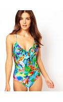 Seafolly Paradise Frill Front Swimsuit - Lyst