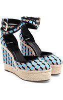 Pierre Hardy Cubic Canvas and Jute Wedges - Lyst