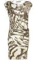 Emilio Pucci Sabbia Draped Jersey Dress - Lyst