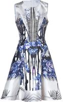 Prabal Gurung Bluemulti Printed Silkcotton Dress - Lyst