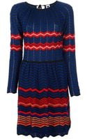M Missoni Zigzag Dress - Lyst