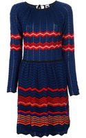 M Missoni Zigzag Dress - Lyst