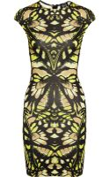 McQ by Alexander McQueen Butterfly Camouflage Printed Jersey Dress - Lyst
