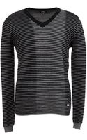 Costume National Vneck Sweater - Lyst