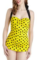 ModCloth Coupe Of Tea One Piece in Bumblebee Dots - Lyst