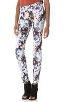 Theyskens' Theory Printed Skinny Pants - Lyst