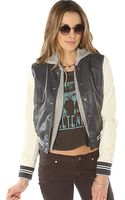 Obey The Varsity Lover Jacket in Navy Cream - Lyst
