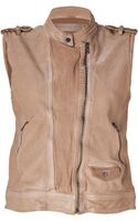 Neil Barrett Powder Washed Leather Vest - Lyst