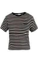 Saint Laurent Stripe Merino wool Sweater - Lyst