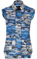 Matthew Williamson Blue multi Embroidered Vest - Lyst