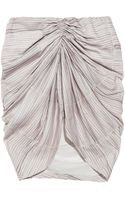 See By Chloé Ruched Printed Crepe De Chine Mini Skirt - Lyst