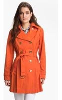 Michael by Michael Kors Double Breasted Trench Coat - Lyst