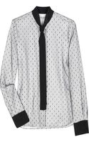 Valentino Point Desprit Cottonpoplin Shirt - Lyst