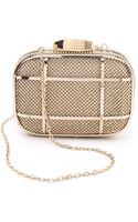 Whiting & Davis Cage Minaudiere Clutch Gold - Lyst