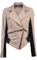 Cut25 Ponte with Leather Jacket - Lyst