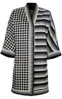 Fausto Puglisi Printed Oversized Coat - Lyst