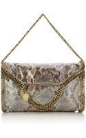 Stella McCartney Falabella Python Triple Handle Bag - Lyst