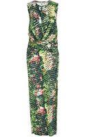 Kenzo Orchid Print Wrap Maxi Dress - Lyst