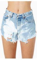 Nasty Gal Union Jack Cutoff Shorts - Lyst