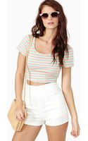 Nasty Gal Candy Stripe Crop Top - Lyst