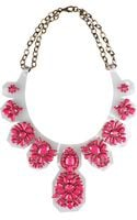 L'inde Jewel Embroidered Necklace On Vynil - Lyst