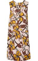 Marni Printed Cotton-Poplin Dress - Lyst