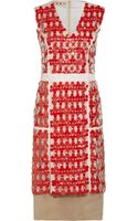 Marni Embellished Cotton and Linen-Blend Dress - Lyst