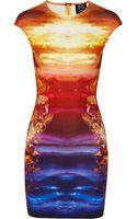 McQ by Alexander McQueen Mineral Print Stretch Jersey Dress - Lyst