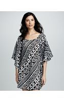 Kenneth Cole Printed Coldshoulder Coverup - Lyst