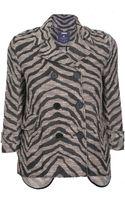 Gryphon Leopard Peacoat - Lyst