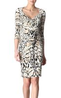 Roberto Cavalli Animalprint Dress - Lyst
